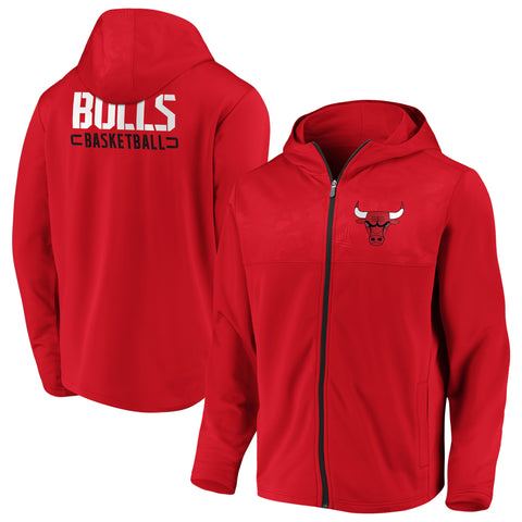 Chicago Bulls NBA Defender Mission Primary Full Zip Hoodie