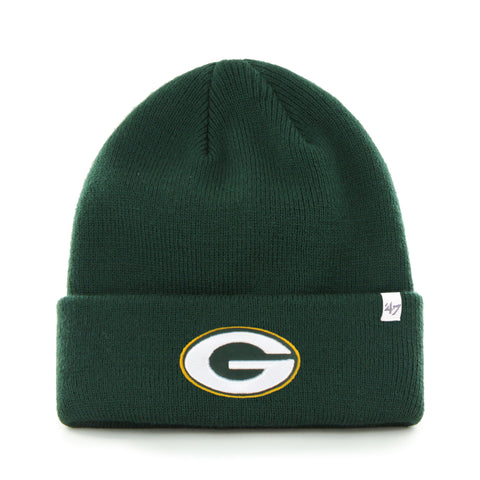 Green Bay Packers NFL Raised Cuffed Knit Beanie