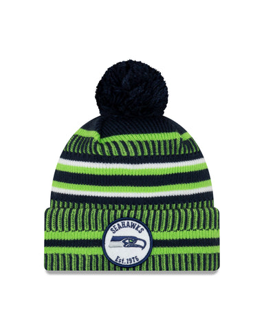 Seattle Seahawks NFL New Era Sideline Home Official Cuffed Knit Toque