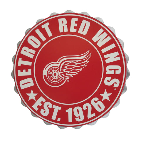 Detroit Red Wings Bottle Cap Wall Logo