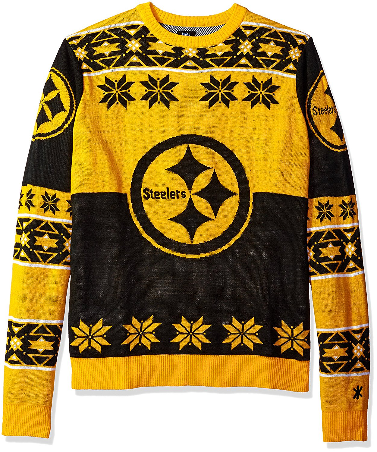 best service 7694f 0fc56 Pittsburgh Steelers NFL Big Logo Ugly Sweater