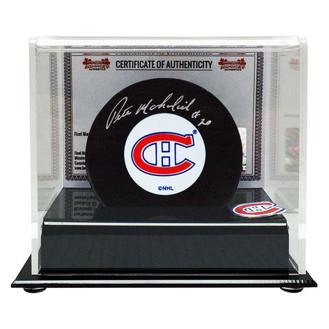 Peter Mahovlich Signed Montreal Canadiens Puck