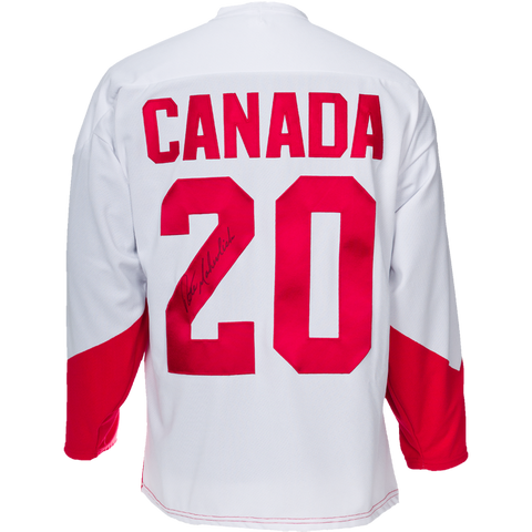 Peter Mahovlich Signed Team Canada '72 Summit Series Jersey