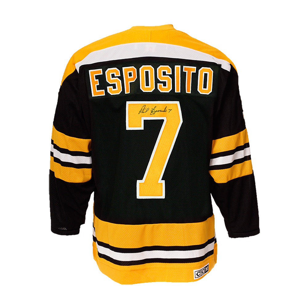 more photos c4cf8 f5d13 Phil Esposito Signed Boston Bruins Vintage Jersey