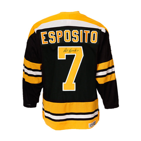 Phil Esposito Signed Boston Bruins Vintage Jersey
