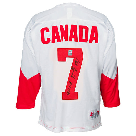 Phil Esposito Signed Team Canada '72 Summit Series Jersey