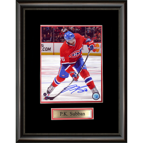 P.K. Subban Signed Montreal Canadiens Framed Photo
