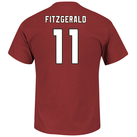 Arizona Cardinals Larry Fitzgerald #11 Bright Garnet Eligible Receiver T-Shirt