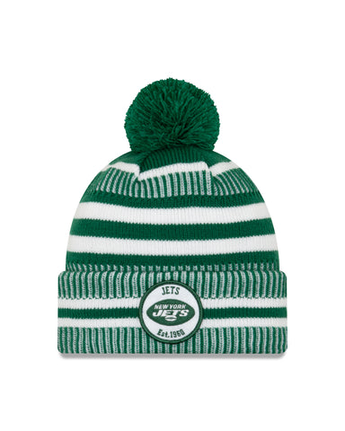 New York Jets NFL New Era Sideline Home Official Cuffed Knit Toque