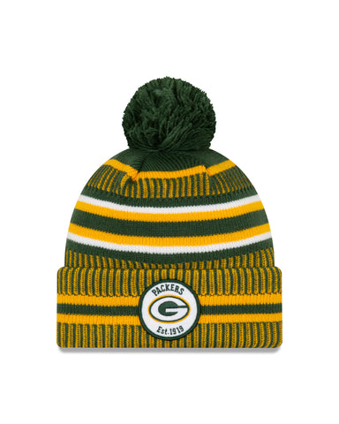 Green Bay Packers NFL New Era Sideline Home Official Cuffed Knit Toque