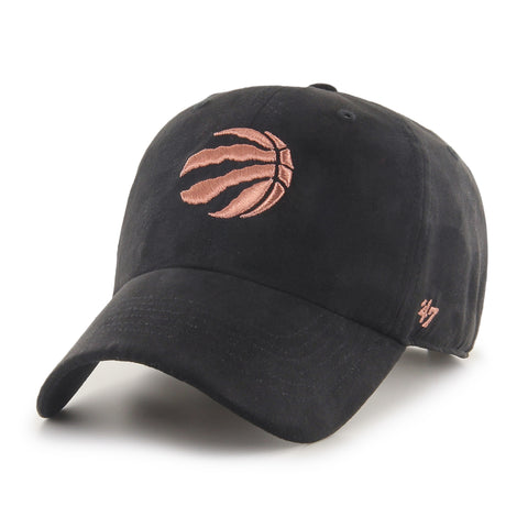 Women's Toronto Raptors NBA Uptown Suede Black Clean Up Cap