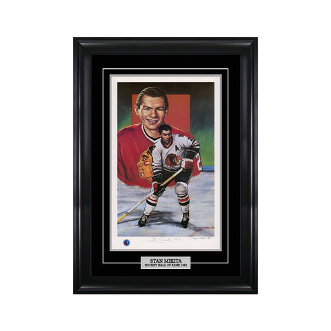 Stan Mikita Signed Chicago Blackhawks Limited Edition Print