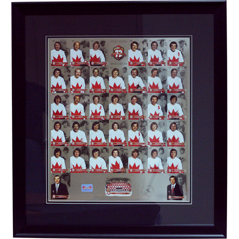 Team Canada '72 Summit Series 35th Anniversary Framed Un-Cut Limited Edition Collector Card Set