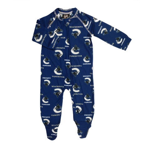 Infant Vancouver Canucks NHL Raglan Zip Up Coverall