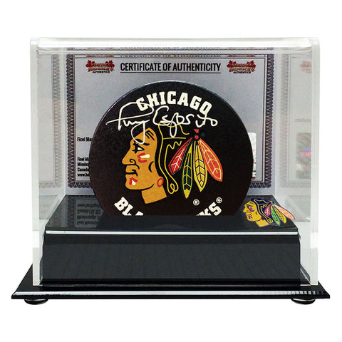Tony Esposito Signed Chicago Blackhawks Puck