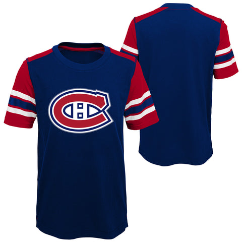 Youth Montreal Canadiens NHL Crashing The Net Fashion Tee