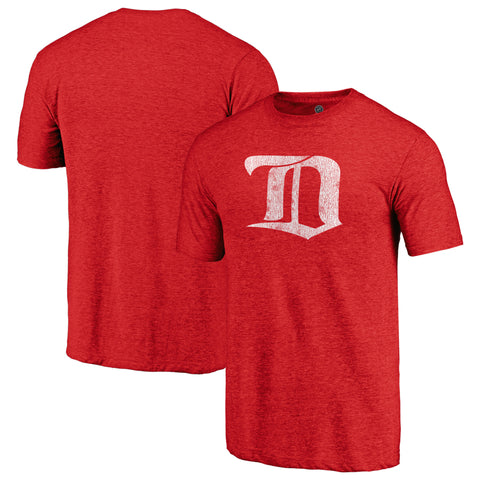 Detroit Red Wings NHL Distressed Vintage Primary Tri-Blend Tee