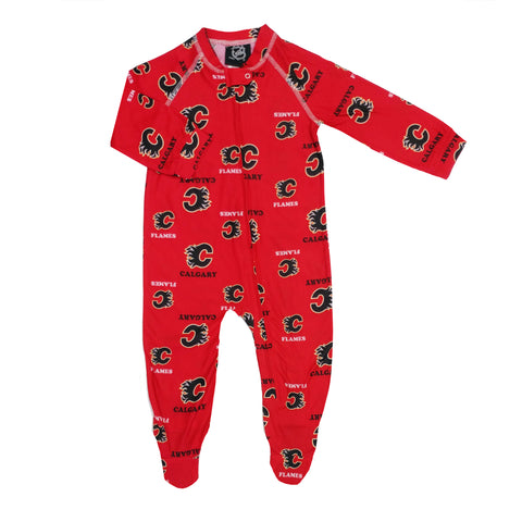 Infant Calgary Flames NHL Raglan Zip Up Coverall