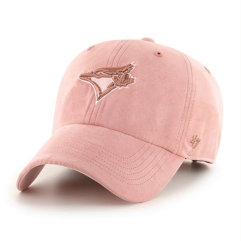 Women's Toronto Blue Jays MLB Uptown Suede Pink Clean Up Cap