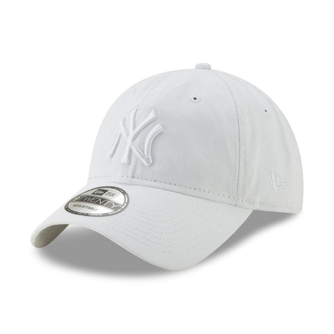 New York Yankees MLB Core Classic 9TWENTY White Tonal Cap