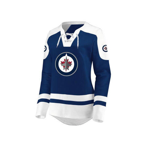 Ladies' Winnipeg Jets NHL Centre Long Sleeve Lace-Up Crew