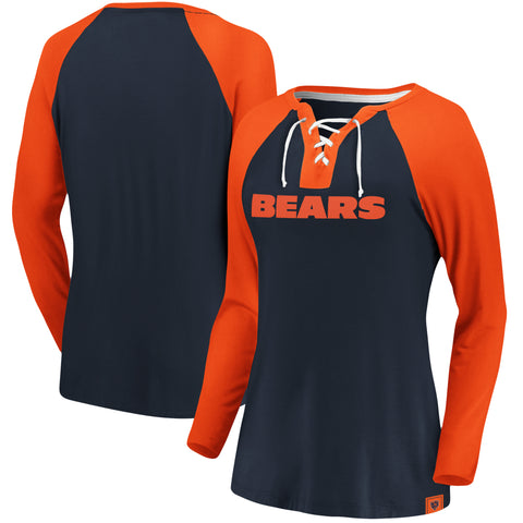 Ladies' Chicago Bears NFL Fanatics Break Out Play Lace-Up Long Sleeve