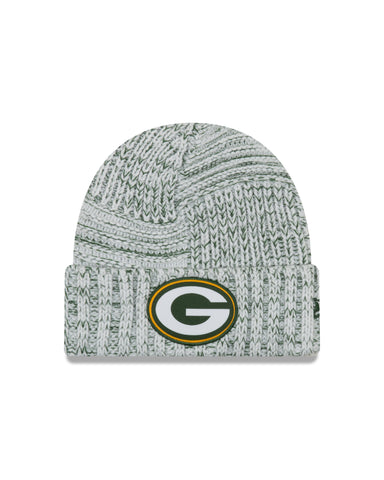 Ladies' Green Bay Packers NFL New Era Sideline Team logo Cuffed Knit Toque