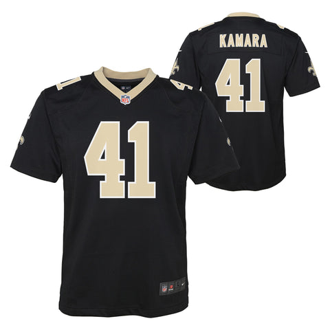 Youth New Orlean Saints Alvin Kamara Nike Game Team Jersey