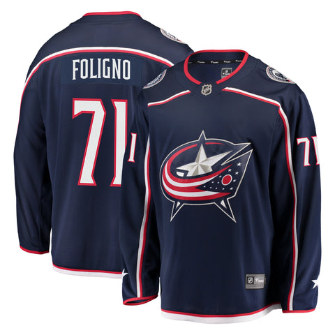 Nick Foligno Columbus Blue Jackets NHL Fanatics Breakaway Home Jersey