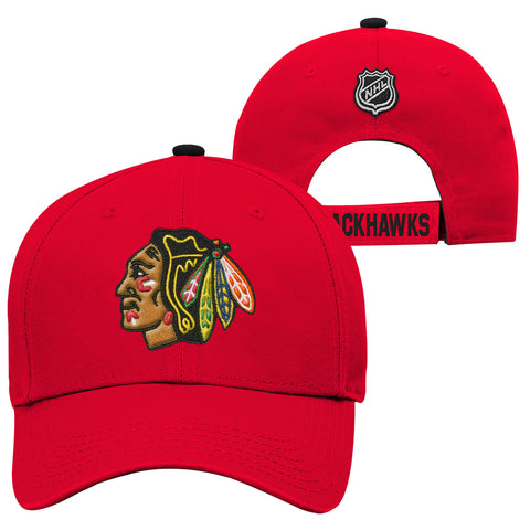 Youth Chicago Blackhawks NHL Basic Structured Adjustable Cap