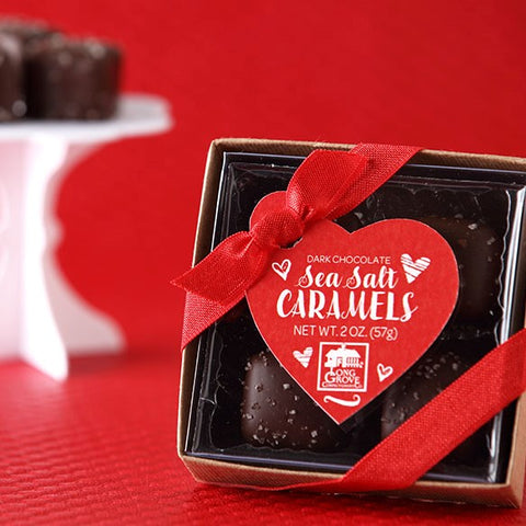 1 Dozen Valentine's Sea Salt Caramel Chocolate Gift Boxes