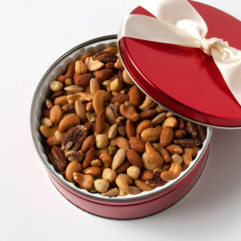 Sweet Red Mixed Nuts Tin