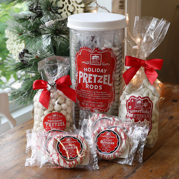Crunchy Merry Christmas Pretzels (4 piece collection)