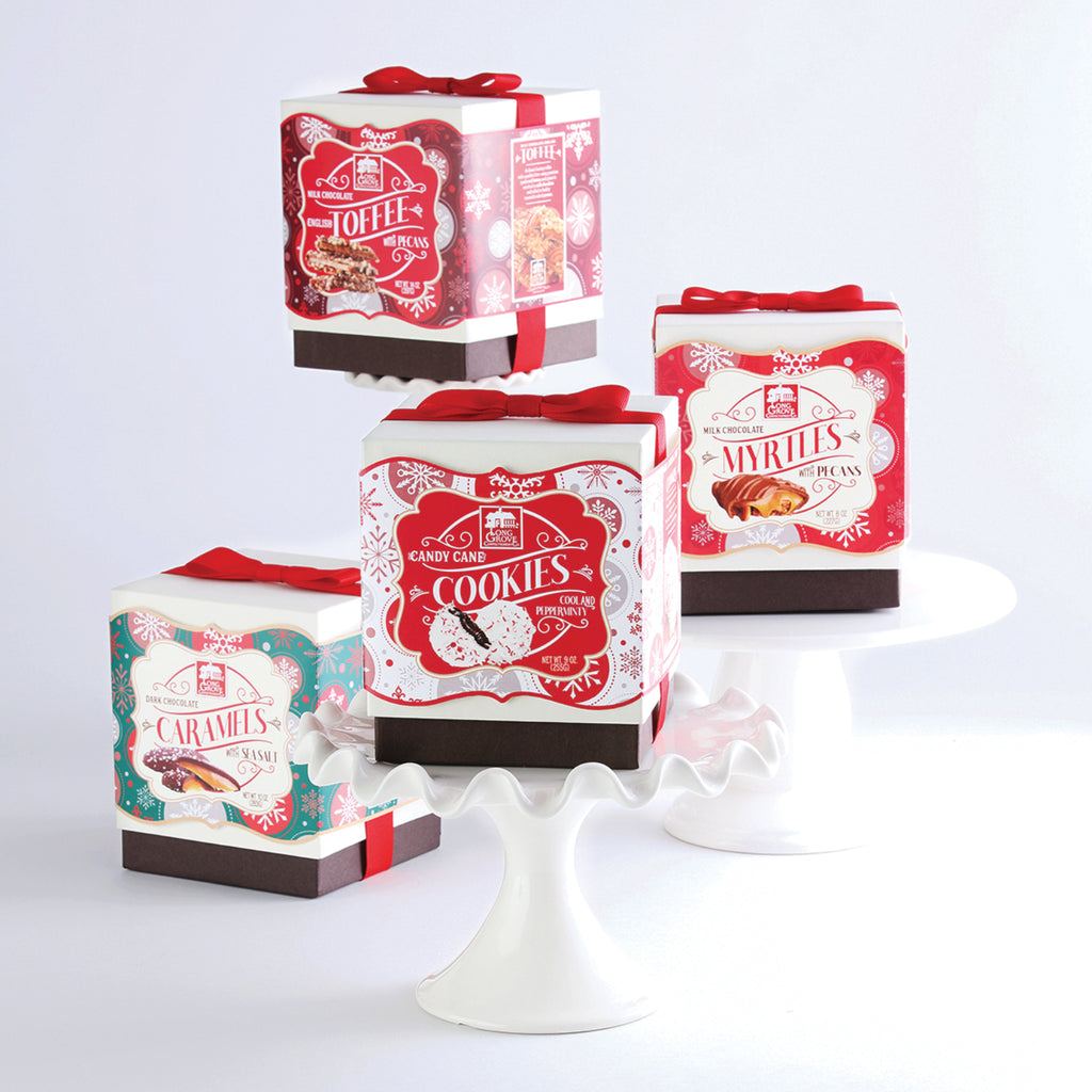Snowflake Boxes with Bows (4 Box Collection)