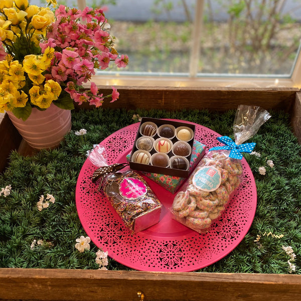 Spring Flower Chocolate (3 piece gift)