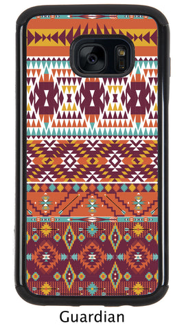 Deep Burgundy Aztec