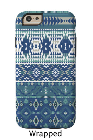 Shades of Blue Aztec