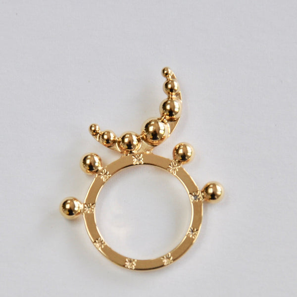 Sorcha O'Raghallaigh Gold Plated Cosmic Moon Ring