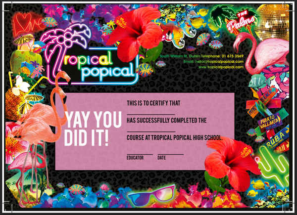 Tropical Popical Certificate in Nail Art VOUCHER
