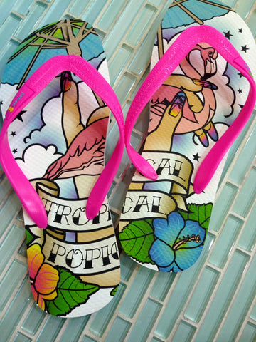Tropical Popical Flip Flops