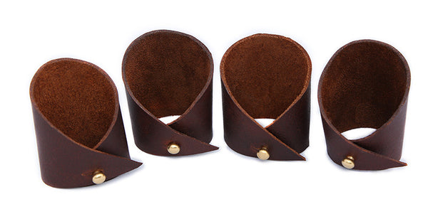 Noble Vine Collection™ Leather Napkin Cuffs [Set of 4]