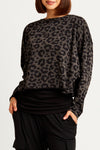 animal print pima cotton tee