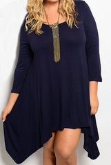 plus size dress with long sleeve