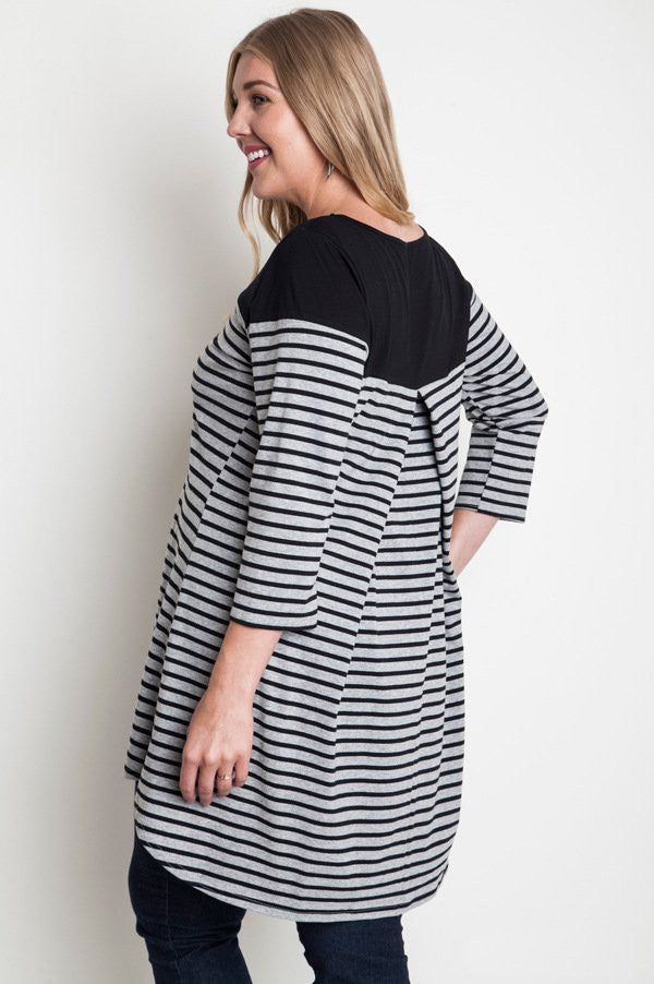 Plus Size Stripe Tee Dress - DeSarti.com
