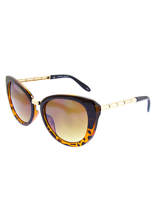 butterfly cat eye sunglasses in tiger print frame