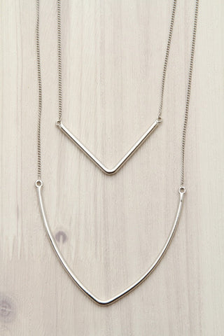 Free Hanging Wire Hoop in Silver