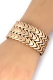 chevron pattern bracelet gold