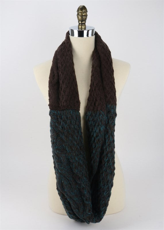 fashion knit infinity scarf in taupe