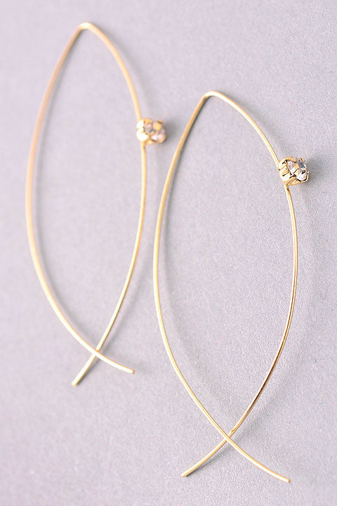 free hanging wire hoop in gold