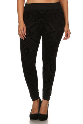 Plus Size Tapered Harem Pants with Fold-Over Waist